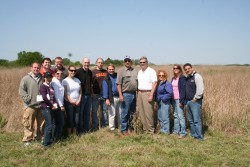 Students explore the Chariton Valley Switchgrass Project.