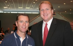 photo of Scott Raecker and Gov. Chet Culver