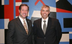 photo of President David Maxwell and Larry Zimpleman