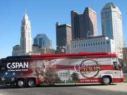 Photo of C-SPAN campaign bus