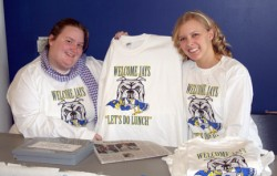photo of students selling T-shirts