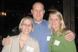 photo of Rachel Dykstra Boon, Adam Boon and CoraLynn Becker Trewet