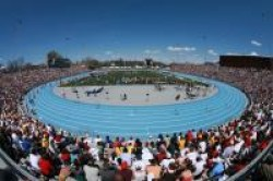 Photo of track at Drake Stadium
