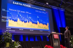 James Balog describes an environmental increase in carbon dioxide, which he says is well beyond the bounds of natural variation.