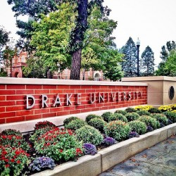 Drake Welcome Sign