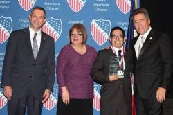 LULAC National Executive Director Brent A. Wilkes, LULAC National President Margaret Moran, Myself, and LULAC Iowa Director and President Council 307 Joe Enriquez Henry. The photo was taken on Nov. 1 at the inaugural LULAC  Iowa Latino Leadership Awards Banquet.