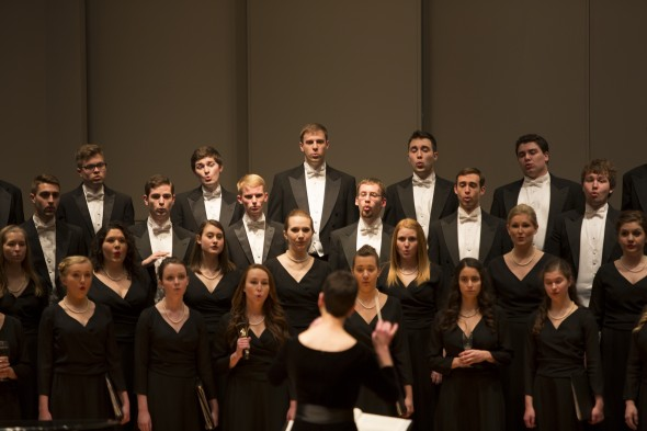 The Drake Chamber Choir performs in March 2014.