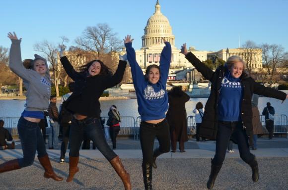 Drake students during a J-Term trip to D.C. (Photo by Jill Van Wyke)