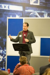 President David Maxwell speaks at the STEM Explorers kick off event Thursday.