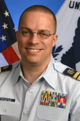 U.S. Coast Guard Commander Aaron Middlekauff, Pharm.D., PH'01,