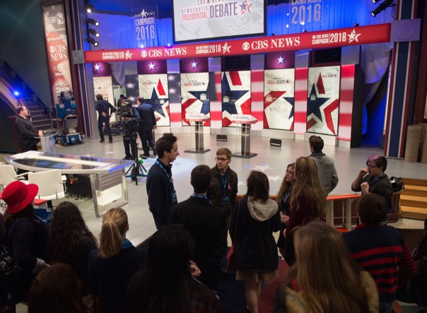 Behind the scenes at the Democratic presidential debate