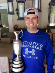 Zach Johnson with the Claret Jug.