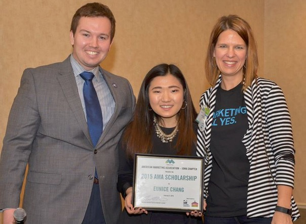 Drake junior Eunice Chang receives Iowa AMA Scholarship