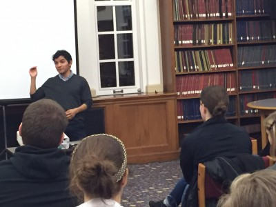 Carlos Ibarra shared his documentary and his story at Cowles Library.