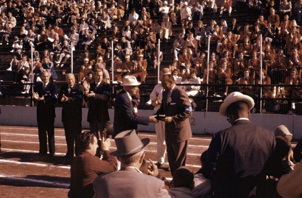 Jesse Owens at Drake Relays 1959