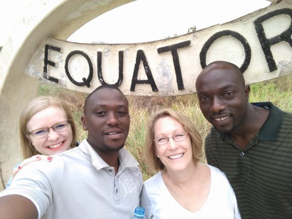 Prof. Deb Bishop, second from left, recently concluded a seven-week sabbatical in Uganda.