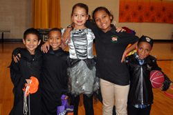 Children at Halloween Hoops