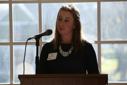 Student Brooke Miller thanked the benefactor of her scholarship.