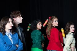 "Production photo of ""Heathers: The Musical"" at Drake University"