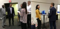Students network with alumni and faculty members during Finance Career Night on Oct. 26.