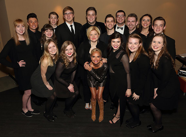 Drake students perform with Broadway actress Kristin Chenoweth