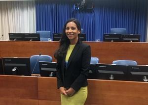 Hannah Weeg in Courtroom