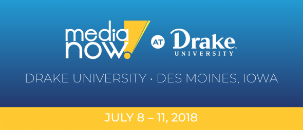 Media Now Summer Camp at Drake University July 11-18, 2018.