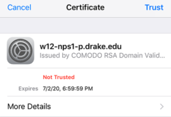 new security certificate image