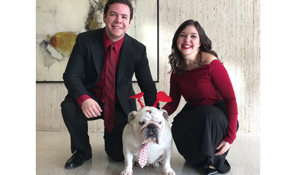 Griff joins Drake Choir for Singing Valentines fundraiser