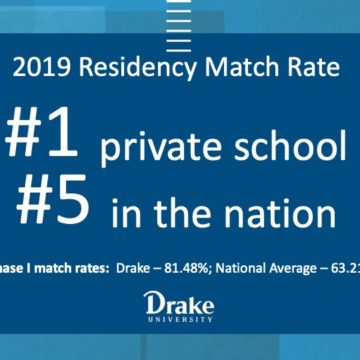 Drake CPHS class of 2019 top private school for ASHP Phase I Residency Match rate