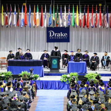 Drake University to celebrate 146th commencement, Harkin and Wittern to receive honorary degrees