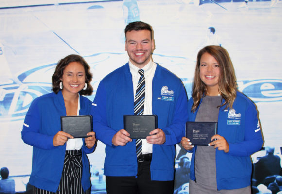 Drake Holds Inaugural Athletic Training Blue Coat Ceremony