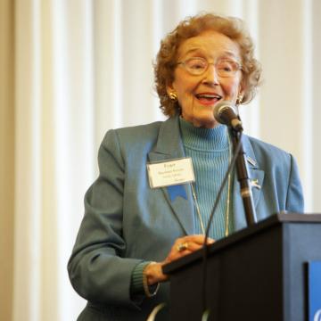 """Honoring Frances Bartlett """"Fran"""" Kinne, FA'40, GR'44"""